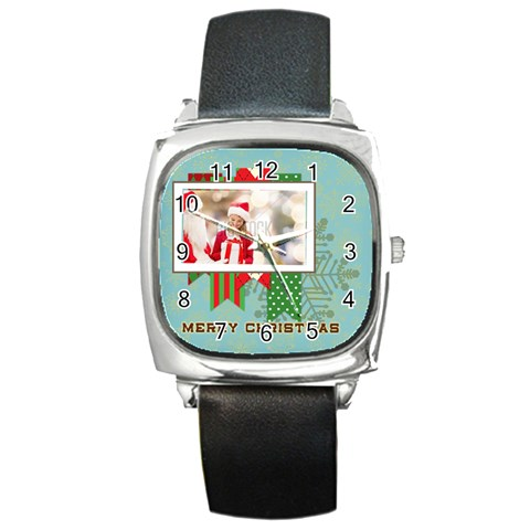 Xmas By Xmas   Square Metal Watch   Mimfdvj6qr82   Www Artscow Com Front