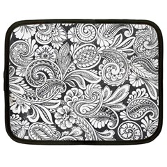 Floral Swirls Netbook Sleeve (large) by odias