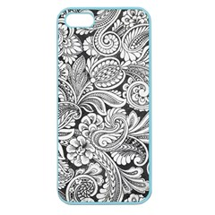 Floral Swirls Apple Seamless Iphone 5 Case (color) by odias