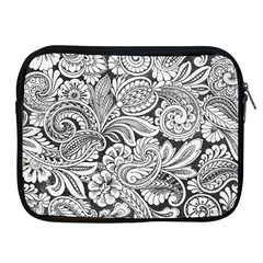 Floral Swirls Apple Ipad Zippered Sleeve by odias