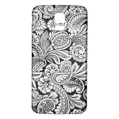 floral swirls Samsung Galaxy S5 Back Case (White) by odias