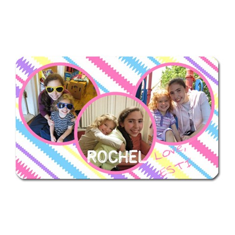 Rochel Magnet By Kornie   Magnet (rectangular)   Jf9s52yvpzo5   Www Artscow Com Front