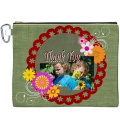 Kids Thank  By Jacob   Canvas Cosmetic Bag (xxxl)   C711af48saua   Www Artscow Com Front