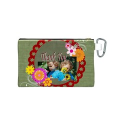 Kids Thank  By Jacob   Canvas Cosmetic Bag (small)   Wbbi38ou6w2k   Www Artscow Com Back