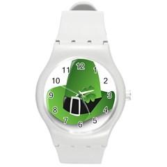 Irish Shamrock Hat152049 640 Plastic Sport Watch (medium)