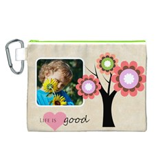 Kids Thank  By Jacob   Canvas Cosmetic Bag (large)   N9lal7ww8rb1   Www Artscow Com Front