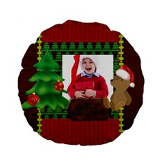 Xmas By Jacob   Standard 15  Premium Flano Round Cushion    Xcdchst218mp   Www Artscow Com Back