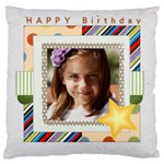 birthday - Large Flano Cushion Case (Two Sides)