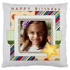 Birthday By Jacob   Large Flano Cushion Case (two Sides)   S6qok2hwgtl5   Www Artscow Com Back