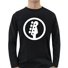 White Bass Sign Men s Long Sleeve T Shirt (dark Colored) by goodmusic