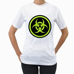 Biohazard Bold Sign Women s T Shirt (white)  by goodmusic
