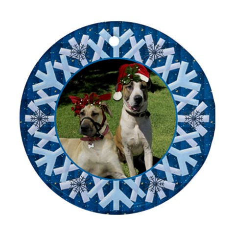 Pet Christmas Snowflake Ornament By Deborah   Ornament (round)   0cgri89k661s   Www Artscow Com Front