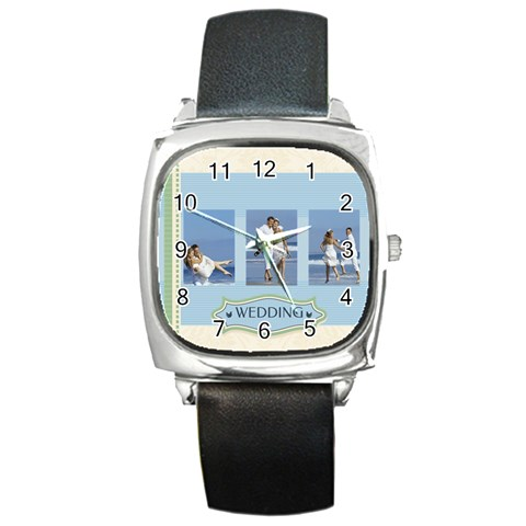 Wedding By Wedding   Square Metal Watch   45i3538zd0o0   Www Artscow Com Front