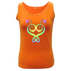 Heart Music Note Women s Tank Top (dark Colored) by goodmusic