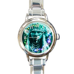Magical Indian Chief Round Italian Charm Watch by icarusismartdesigns