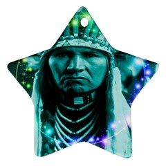 Magical Indian Chief Star Ornament by icarusismartdesigns