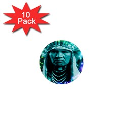 Magical Indian Chief 1  Mini Button Magnet (10 Pack) by icarusismartdesigns