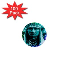 Magical Indian Chief 1  Mini Button (100 Pack) by icarusismartdesigns