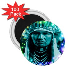 Magical Indian Chief 2 25  Button Magnet (100 Pack) by icarusismartdesigns