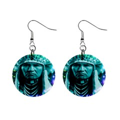 Magical Indian Chief Mini Button Earrings by icarusismartdesigns