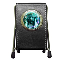 Magical Indian Chief Stationery Holder Clock by icarusismartdesigns