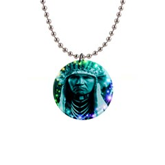 Magical Indian Chief Button Necklace