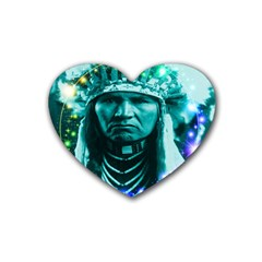 Magical Indian Chief Drink Coasters (heart) by icarusismartdesigns