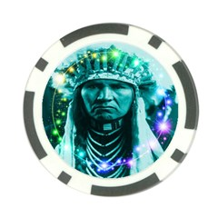 Magical Indian Chief Poker Chip by icarusismartdesigns