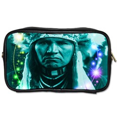 Magical Indian Chief Travel Toiletry Bag (two Sides) by icarusismartdesigns