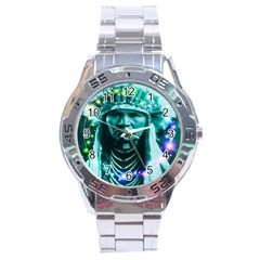 Magical Indian Chief Stainless Steel Watch by icarusismartdesigns