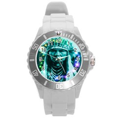 Magical Indian Chief Plastic Sport Watch (large) by icarusismartdesigns