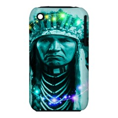 Magical Indian Chief Apple Iphone 3g/3gs Hardshell Case (pc+silicone) by icarusismartdesigns