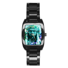 Magical Indian Chief Stainless Steel Barrel Watch by icarusismartdesigns