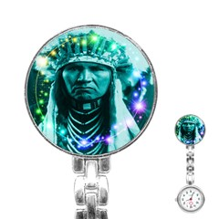 Magical Indian Chief Stainless Steel Nurses Watch by icarusismartdesigns