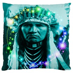Magical Indian Chief Standard Flano Cushion Case (one Side) by icarusismartdesigns