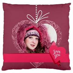 Love By Ki Ki   Large Flano Cushion Case (two Sides)   Qcfca5fmwtak   Www Artscow Com Front