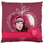 love - Large Flano Cushion Case (One Side)