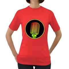Vintage Microphone Colorful Women s T Shirt (colored) by goodmusic