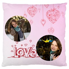 Love By Ki Ki   Large Flano Cushion Case (two Sides)   95zp5tbdrnk3   Www Artscow Com Front