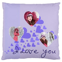 Love By Ki Ki   Large Flano Cushion Case (two Sides)   1plcksu3xg5x   Www Artscow Com Front