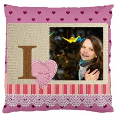 Love By Ki Ki   Large Flano Cushion Case (two Sides)   4x7bzf58r6ql   Www Artscow Com Back