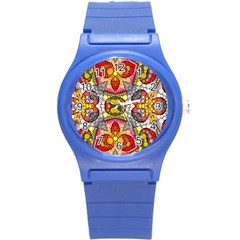 Crazy Lip Abstract Plastic Sport Watch (small) by OCDesignss