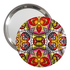 Crazy Lip Abstract 3  Handbag Mirror by OCDesignss