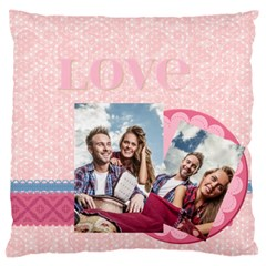 Love By Ki Ki   Large Flano Cushion Case (two Sides)   U9fone33x76w   Www Artscow Com Front