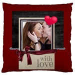 love - Large Flano Cushion Case (Two Sides)