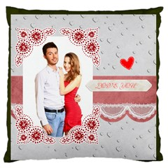 Love By Ki Ki   Large Flano Cushion Case (two Sides)   Xze1buzi3pst   Www Artscow Com Back