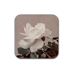 White Rose Vintage Style Photo In Ocher Colors Drink Coasters 4 Pack (square) by dflcprints