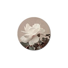 White Rose Vintage Style Photo In Ocher Colors Golf Ball Marker 4 Pack by dflcprints