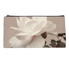 White Rose Vintage Style Photo In Ocher Colors Pencil Case by dflcprints
