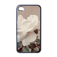 White Rose Vintage Style Photo In Ocher Colors Apple Iphone 4 Case (black) by dflcprints